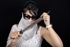 Girl Warrior Royalty Free Stock Photo