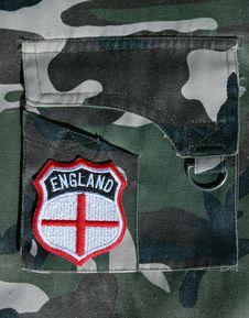 Free England Badge. Stock Photo - 14910190