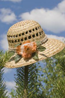 Free Straw Hat Royalty Free Stock Photo - 14910485