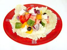 The Greek Salad. Royalty Free Stock Images