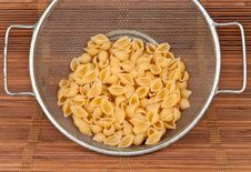 Free Dry Pasta In Strainer Royalty Free Stock Photo - 14910805