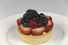 Summer Berry Tart Stock Photos