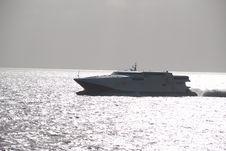 Fast Ferry Crossing Rio De La Plata Royalty Free Stock Image