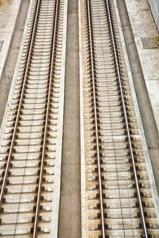 Free Railroad Track In Sunlight Royalty Free Stock Photography - 14912817