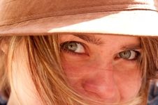 Free Closeup Of Green Eyes Of Attractive Blonde Girl Royalty Free Stock Photos - 14913278