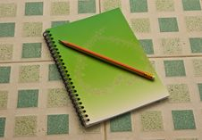 Free Note Book And Pencil Stock Photo - 14914400
