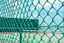 Tennis Cort On The Building Roof Royalty Free Stock Image
