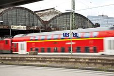 Free Train In Classicistic Iron Train Station Stock Image - 14914631