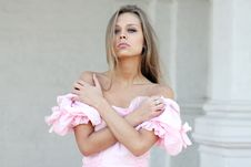 Free Young Woman In Pink Dress Royalty Free Stock Photo - 14914685
