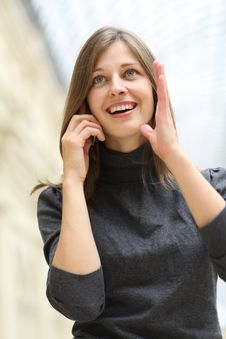 Free Woman With Mobile Telephone Royalty Free Stock Photo - 14914695