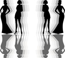 Free Silhouette Women Royalty Free Stock Images - 14915439