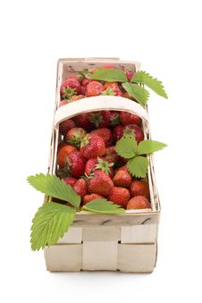 Strawberries In The Basket Royalty Free Stock Photo