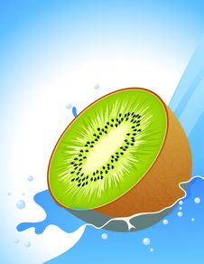Free Kiwi Splash Stock Photography - 14915682