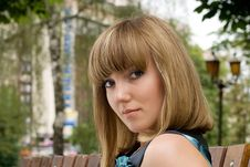 Free Young Woman In Park Stock Photo - 14915770