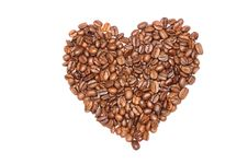 Heart Of Coffee Beans Stock Images