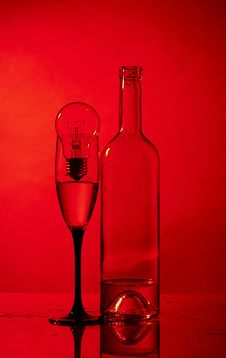 Free Bottle, Glass And Bulb Stock Photo - 14916180