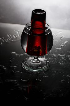 Red Glass In Glass Royalty Free Stock Images
