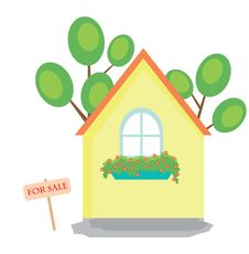 Illustration Of House For Sale Royalty Free Stock Photography