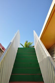 Tropical Stairway Royalty Free Stock Photos