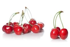 Free Red Cherry Isolated On White Royalty Free Stock Photos - 14917498