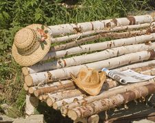 Straw Hats Stock Photography