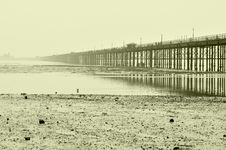 Free Coastline Of Northern Sea And Bridge Stock Photos - 14918173