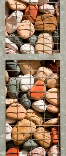 Free Caged Colorful Stones Royalty Free Stock Photo - 14918365