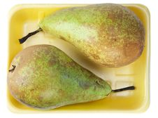 Free Two Pears In Container Stock Photos - 14918613