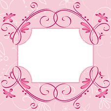 Free Pink Cute Card Royalty Free Stock Photo - 14918745