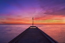 Free Pier At Sunset Royalty Free Stock Photos - 14918788