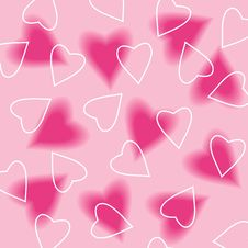 Free Seamless Background With Hearts Royalty Free Stock Photography - 14918827