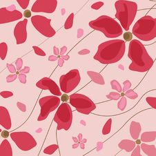 Free Floral Pink Background Royalty Free Stock Image - 14918846