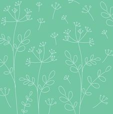 Free Vintage Floral Wallpaper Royalty Free Stock Photos - 14918968