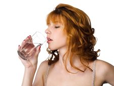 Free Girl Drinking Water Royalty Free Stock Images - 14919149