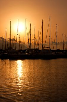 Free Marina Sunset Stock Photos - 14919783