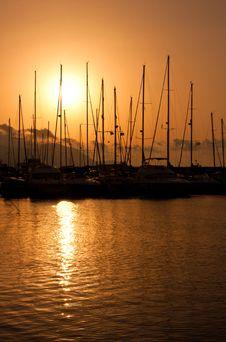 Free Marina Sunset Stock Photos - 14919783