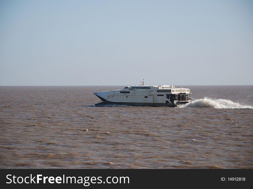 Fast ferry crossing Rio de la Plata