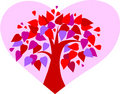 Free Love Tree On Pink Heart Background Stock Image - 14921281