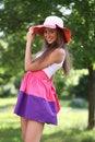 Free Cheerful Woman In The Garden Stock Photos - 14922973