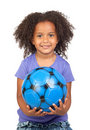 Free Adorable African Little Girl With Soccer Ball Stock Photos - 14923663