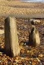 Free Wooden Beach Posts Stock Photo - 14925230