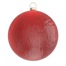 Christmas Ball Isolated On White Stock Images