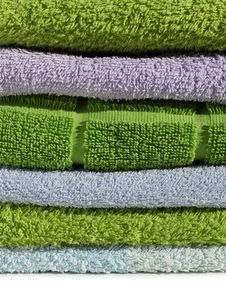 Free Terry Cloth Towels Pile Royalty Free Stock Photo - 14920335