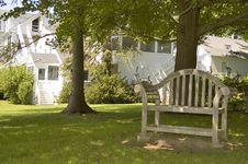 Free Bench In An American Garden Stock Photos - 14920953
