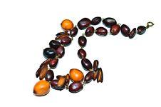 Natural Bead Necklace Stock Photos