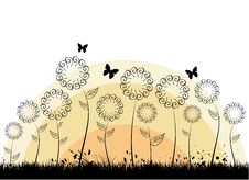 Free Flowers With Butterflies Royalty Free Stock Images - 14922699