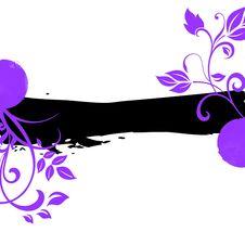 Free Violet Black Floral Background Royalty Free Stock Images - 14923039