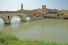 Free The Roman Bridge Royalty Free Stock Photography - 14923257