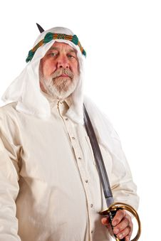 Free Arab Man With A Sword Royalty Free Stock Photo - 14923555