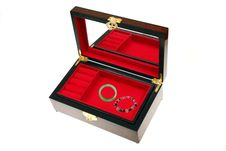Free Open Chinese Jewelry Box Royalty Free Stock Photos - 14923878